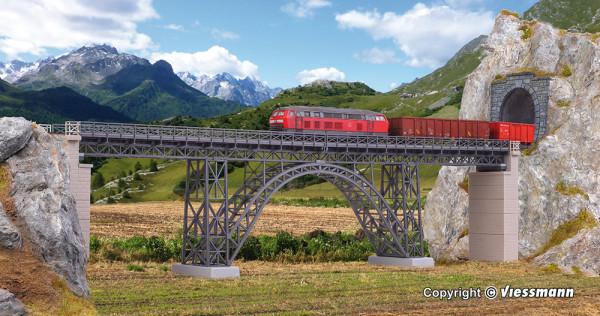 H0 Stahlträger-Viadukt Müngstertal, eingleisig