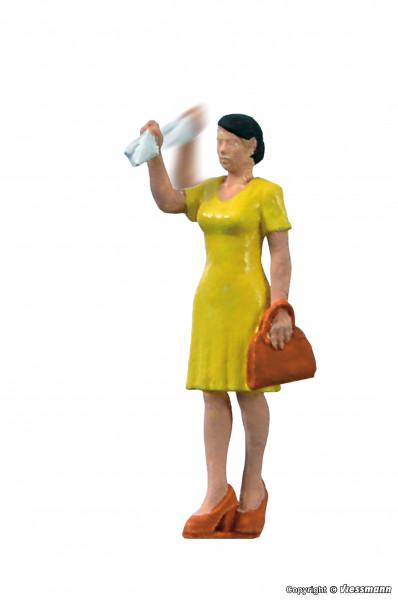 H0 Winkende Frau mit bewegtem Arm