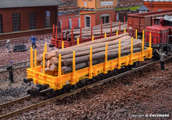 H0 Niederbordwagen, gelb