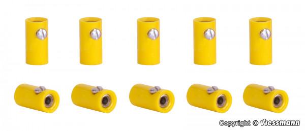 Muffen gelb, 10 Stück