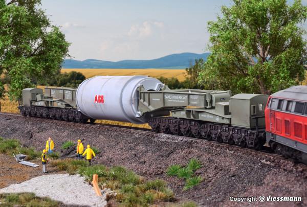 H0 MAN Schienentiefladewagen Uaai 687.9 mit