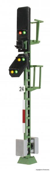 H0 Licht-Blocksignal mit Vorsignal und Multiplex-