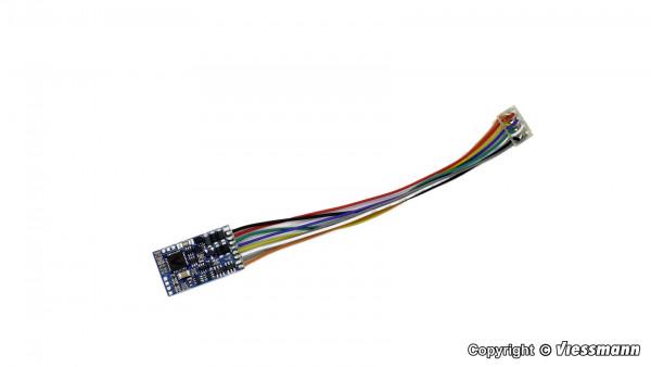 H0 Lokdecoder mit Schnittstellenstecker 8-polig
