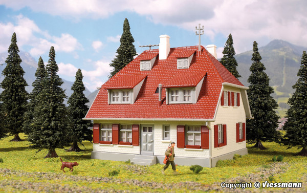 H0 Einfamilienhaus Bergwald