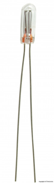 Glühlampe klar T 3/4, Ø 2,3 mm, 16 V, 30 mA,