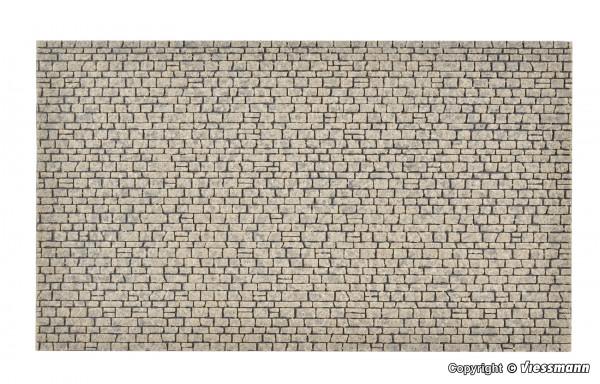 H0 Mauerplatte Naturstein aus Steinkunst,