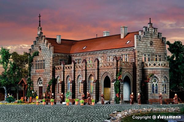H0 Klosteranlage mit Friedhof und Zubehör