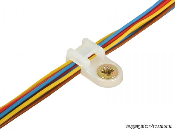 Kabelbinder-Halter mit Schrauben, 100 Stück