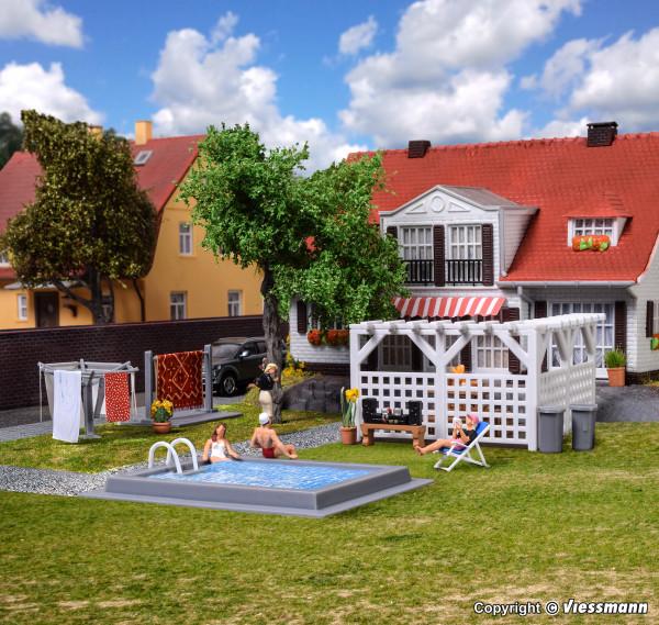 H0 Deko-Set Garten und Terrasse