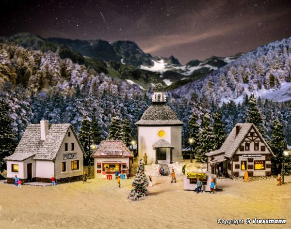 N Weihnachtsdorf mit Beleuchtung, Funktionsbausatz