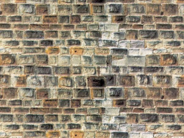H0 Mauerplatte Sandstein hellgrau aus Karton,